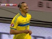 Zlatan'lı İsveç ilk yarıyı önde bitirdi