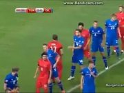 Azerbaycanlı spikerin gol sevinci