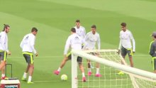 Ronaldo antremanda şov yaptı