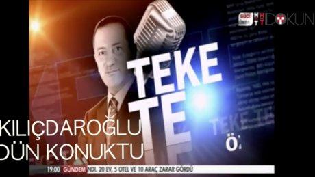 Kemal Kılıçdaroğlu TekeTek'in konuğuydu