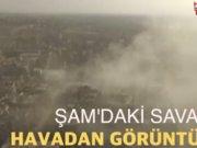 Şam'daki savaş ve yıkıma kuşbakışı