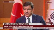 Ahmet Davutoğlu, HABERTÜRK - SHOW TV ortak yayınında - 1.Bölüm