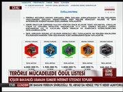 İçişleri Bakanlığı'ndan aranan teröristler listesinin yer aldığı internet sitesi