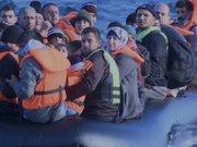 Midilli adasına gitmeye çalışan göçmenler