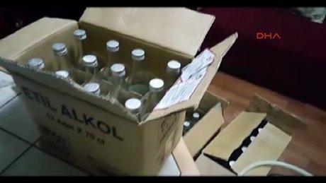 Sahte içki baskını kamerada