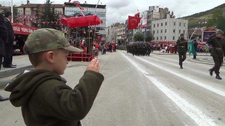 Cumhuriyet Bayramı'na küçük asker damga vurdu