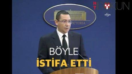 Romanya başbakanı böyle istifa etti