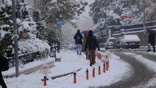 Erzurum kent merkezi beyaza büründü