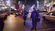 Polis olay yerinde geniş güvenlik önlemi aldı