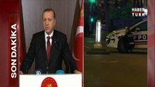 Erdoğan'dan Paris'teki terör saldırılarına ilişkin açıklama