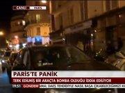 Paris'te terk edilmiş araçta bomba paniği!