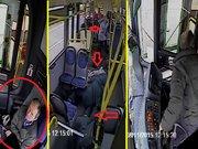 Otobüs şoförü uyudu!