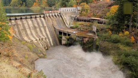 Barajın faliyetlerine son verilmesi böyle görüntülendi