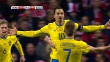 İbrahimoviç ile İsveç büyük avantaj sağladı