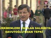 türkmenler davutoğlu açıklaması