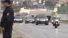 Erdoğan'ın konvoyu köprü üzerinde yavaşladı