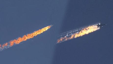 Uçağın düşme anı böyle görüntülendi