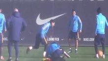 Barcelona'da antreman
