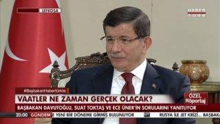 BAŞBAKAN DAVUTOĞLU HABERTÜRK TV'DE - 3.BÖLÜM