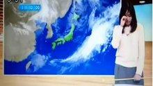 Hava durumu sunarken kötü haberi aldı!