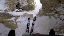 Yürekleri ağza getiren kayak parkuru