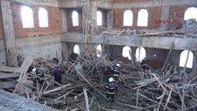 Cami inşaatında göçük