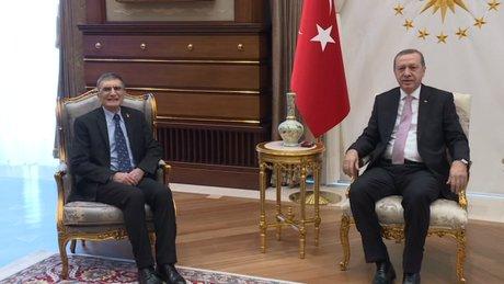 Aziz Sancar Cumhurbaşkanlığı Sarayı'nda