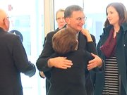 Aziz Sancar'a havalimanında sürpriz