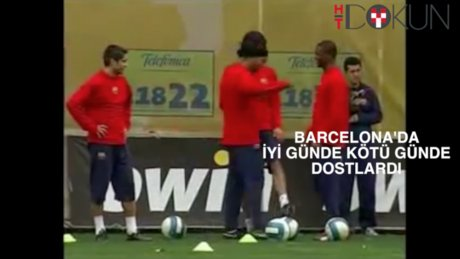 Ronaldinho Etoo: Etle tırnak