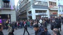 Galatasaray meydanı'ndaki korsan gösteriye müdahele