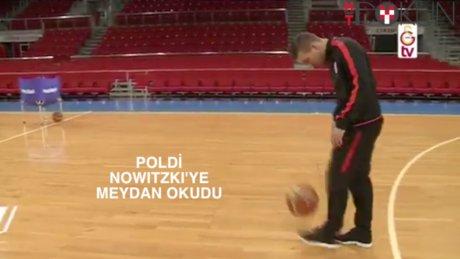 Podolski Nowitzki'ye meydan okudu