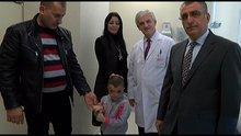 Iraklı küçük kız, yeni yüzüne Türkiye'de kavuştu