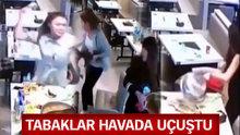 Restaurantta kız kavgası