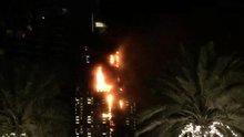 Dubai'de 63 katlı otelde yangın