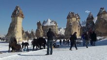 Karlar altında Kapadokya