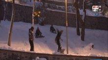 Yeni Yıla kar üstünde girdiler