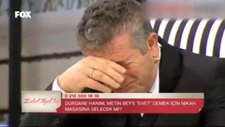 Nikah masasında ağladı!