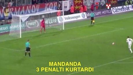 Mandanda 1 maçta 3 penaltı kurtardı