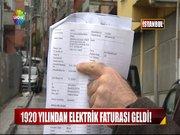 1920 yılından elektrik faturası geldi!