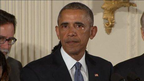 Obama'nın gözyaşları