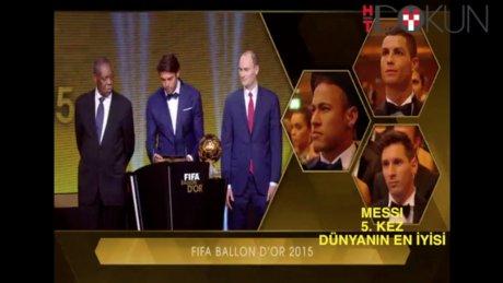 Messi 5. kez dünyanın en iyisi