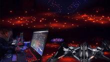 100 Drone'dan müthiş ışık gösterisi