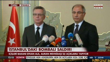 Efkan Ala Sultanahmet patlaması ile ilgili basın açıklaması düzenledi