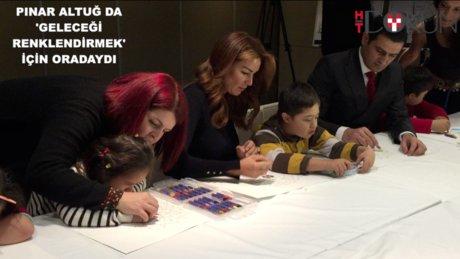 Pınar Altuğ down sendromlu çocuklarla buluştu
