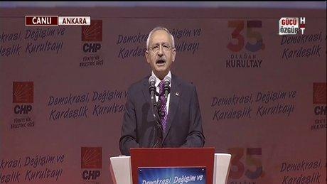 CHP Kurultayında Kılıçdaroğlu ve Murat Karayalçın konuştu