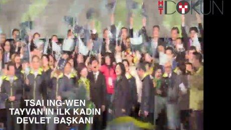 Tayvan ilk kadın devlet başkanını seçti