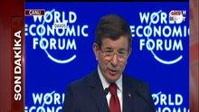 Başbakan Ahmet Davutoğlu Davos'ta konuştu