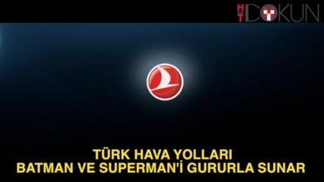 THY yeni reklamında Batman ve Superman'i oynattı