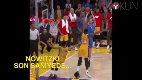 Nowitzki attı Kobe kutladı