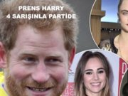 Prens Harry dört sarışınla parti yaptı